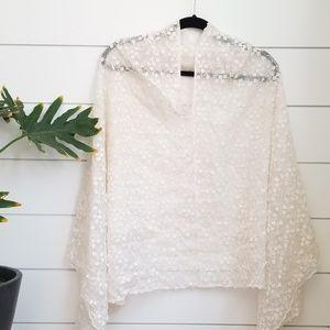 Jackets & Blazers - Vintage Floral Poncho